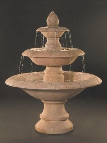 Venetian 3 Tier Cast Stone Outdoor Fountain