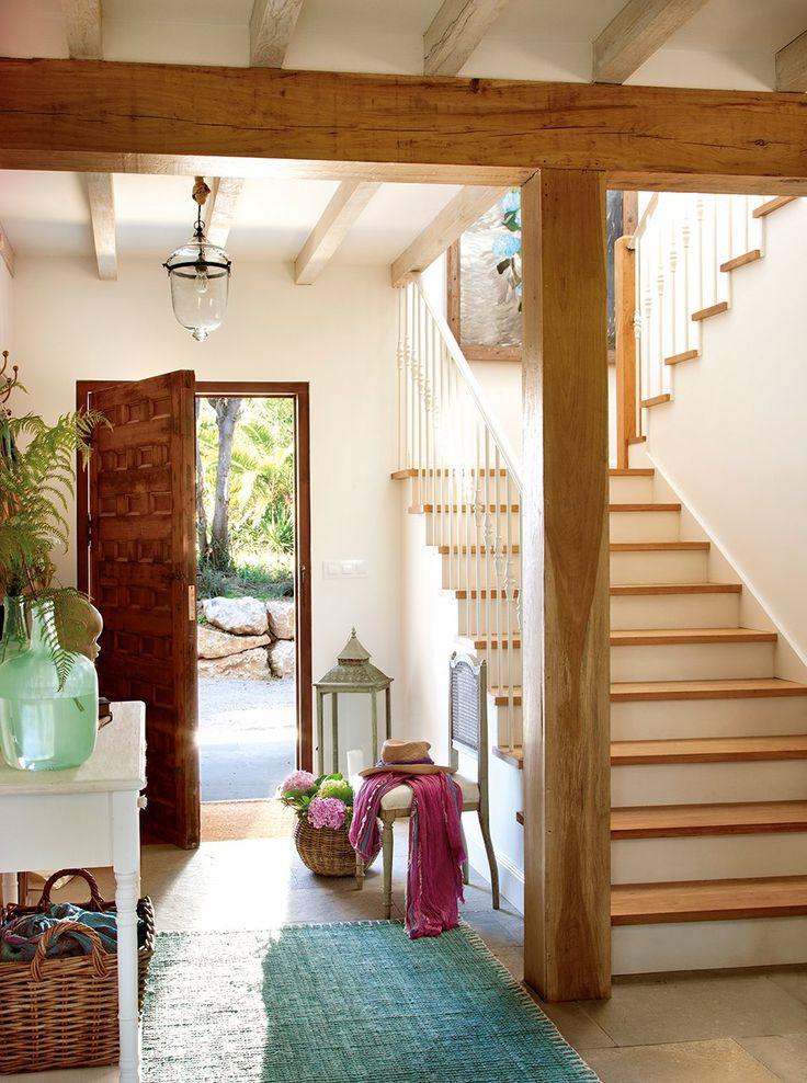M s de 25 ideas incre bles sobre estilo campestre en for Escaleras interiores casas rusticas
