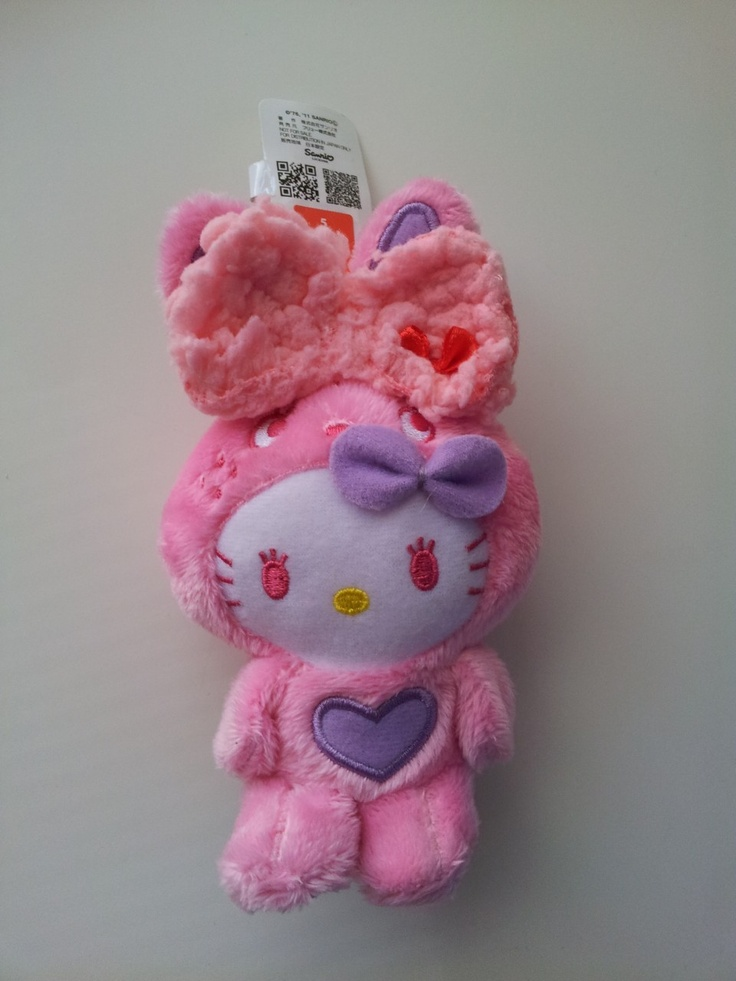 JPLand Stuff - Sanrio Hello Kitty - Colorful Bunny Plush Strap (Pink), $11.99 (http://www.jplandstuff.com/sanrio-hello-kitty-colorful-bunny-plush-strap-pink/)