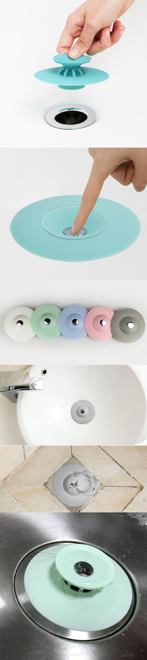 Photographic Gallery Silicone Drain Stopper Hair Catcher in Deodorant Sink Bathtub Floor Drain Protector
