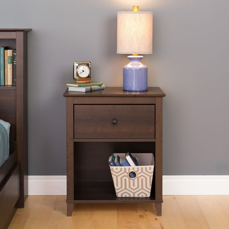 Prepac Yaletown Tall Nightstand   Espresso   The Prepac Yaletown Tall  Nightstand U2013 Espresso Adds The Perfect Finishing Touch To Your Bedroom Décor .