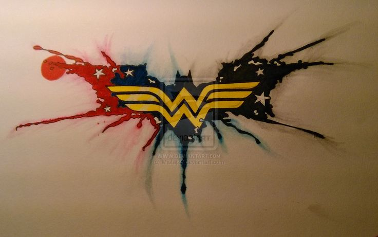 wonder woman tattoo | Wonder Woman Batman Tattoo by Mistaj27