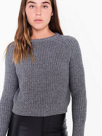 cropped fisherman pullover @American Apparel