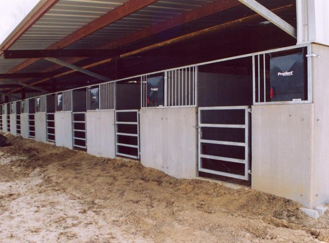 image gallery designed by horsemen involved in rodeo and the performance horse industry for over 50 years the century concrete horse stall - Horse Stall Design Ideas