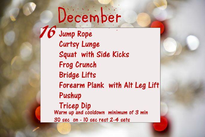 December Fitness Challenge - Day 16