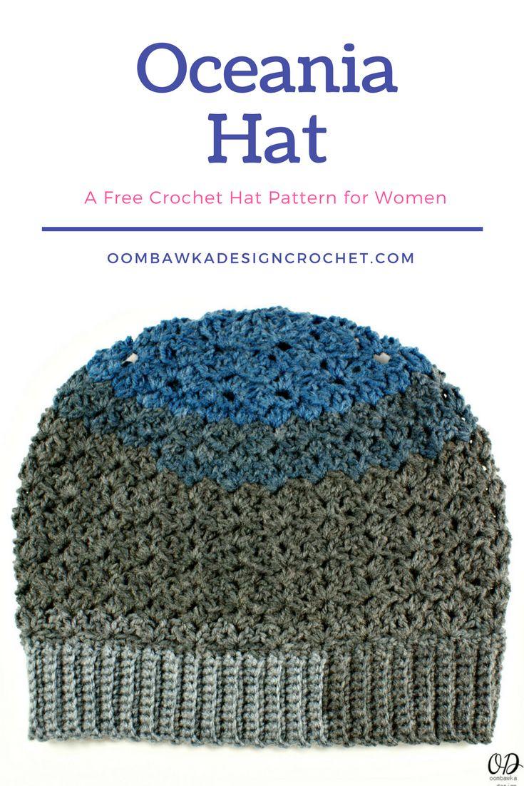 1159 best crochet hats images on pinterest hats crochet beanie a free crochet hat pattern for women the oceania hat pattern is available in one bankloansurffo Gallery