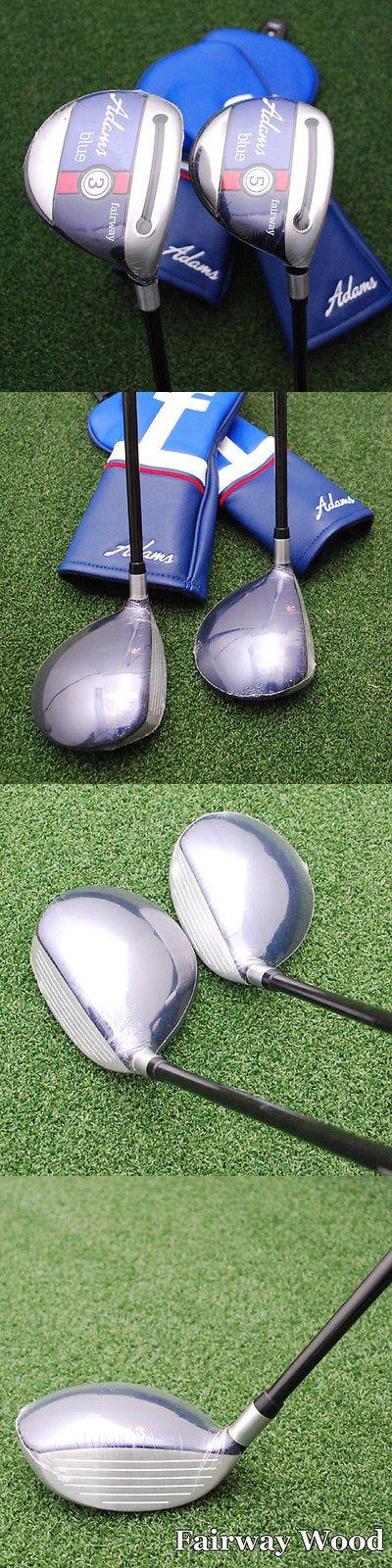 Golf Clubs 115280: Adams Golf Blue 2Pc Set - 3+5 Fairway Woods Pxv Graphite 6.0 Stiff Flex - New BUY IT NOW ONLY: $119.95
