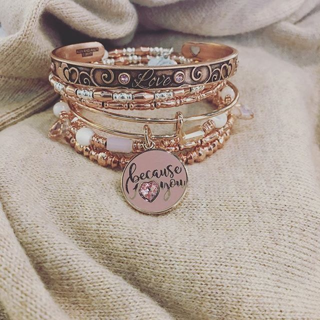 ALEX AND ANI Valentines Day 2017 Collection | Love Cuff Bracelet | Because I Love You Set of 3