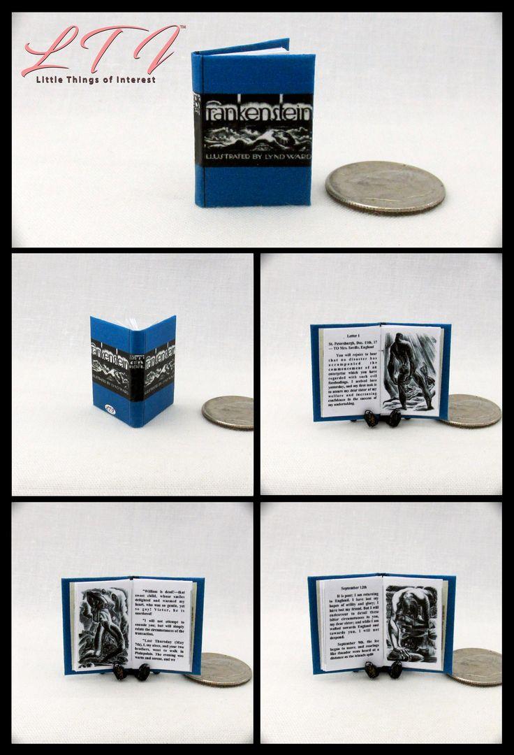 Frankenstein miniature book dollhouse book 112 scale