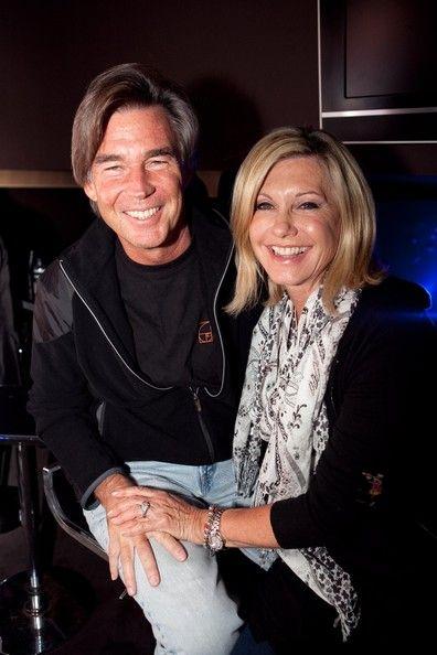 Actress/Singer Olivia Newton-John and her husband John Easterling at the Trak Nightclub in Melbourne, Australia.