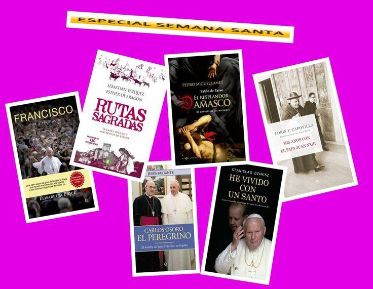 Especial lecturas de Semana Santa para tod@s. En la imagen encontraréis el libro más adecuado seguro.