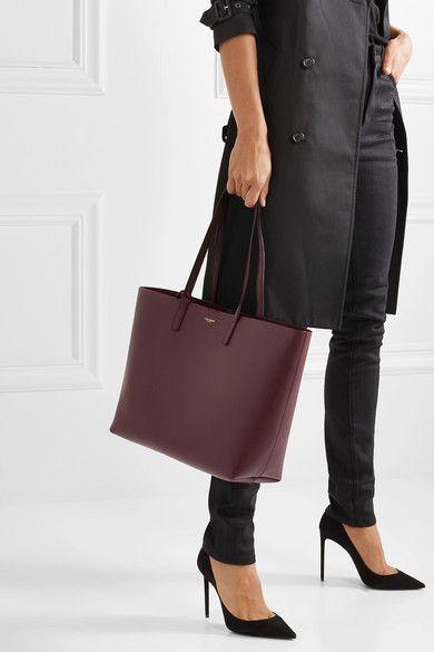 07b30197bef Saint Laurent | Shopper large textured-leather tote | NET-A-PORTER.COM