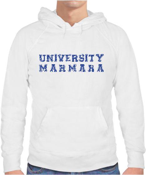 Marmara University Erkek Sweat Kendin Tasarla - Erkek Kapşonlu Sweatshirt