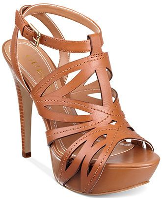 GUESS Women's Shoes, Oliane Platform Sandals - GUESS - Shoes - Macy's