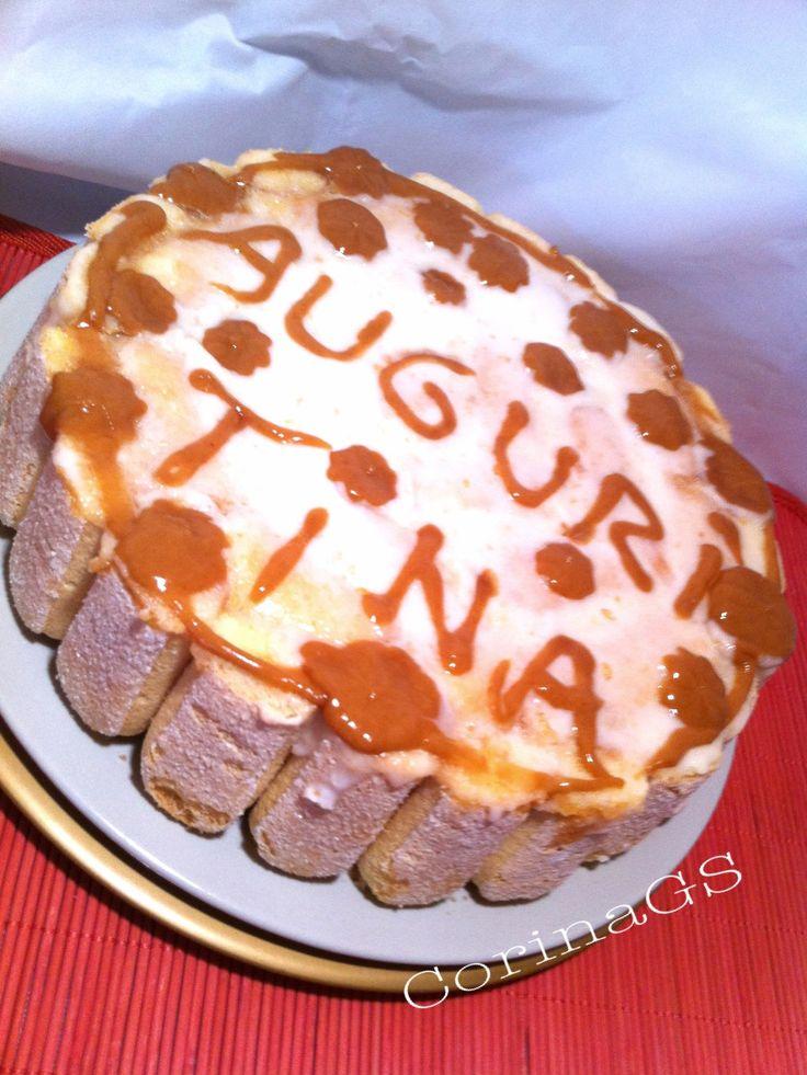 Torta fredda con crema di budino alla vaniglia e ananas