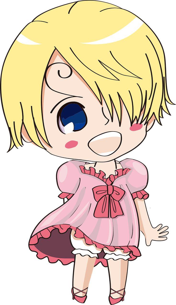귀여운 만화 캐릭터, 홍콩 커스터드, 귀여운, 금발, 소녀, 핑크 드레스, 애니메이션