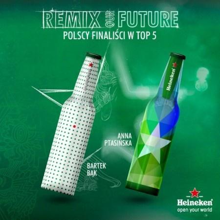 POLACY WŚRÓD FINALISTÓW na FUTU.PL Po trzech miesiącach zmagań w konkursie na autorski projekt butelki piwa marki Heineken Your Future Bottle, poznaliśmy finałową piątkę, w której znalazło się aż dwóch polskich designerów. Prace Anny Ptasińskiej i Bartka Bąka zostały wybrane spośród 2 000 projektów nadesłanych przez twórców z całego świata. Finał konkursu Your Future Bottle odbędzie się 11 kwietnia br. podczas Tygodnia Designu w Mediolanie.