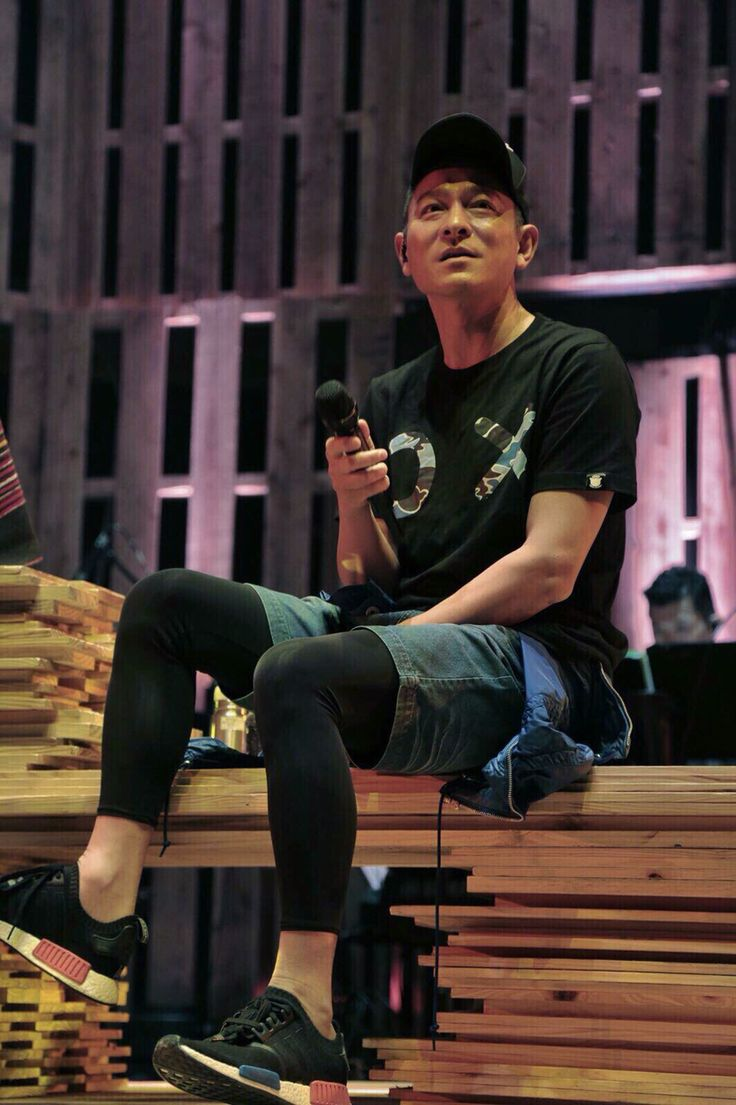 Andy Lau with ADIDAS NMD RUNNER PK (BLACK / RED / BLUE)