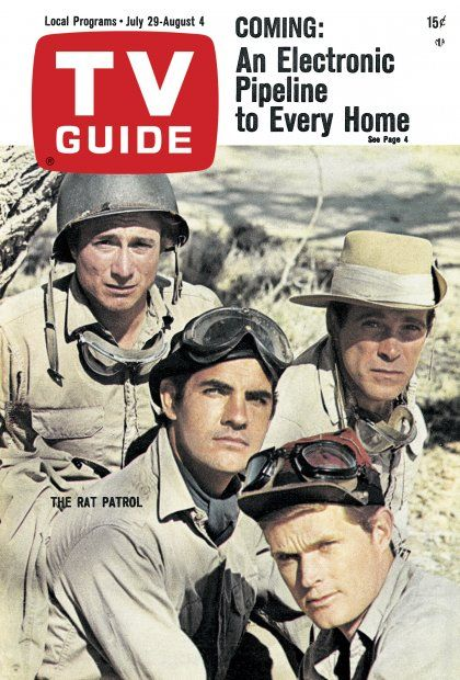 TV Guide: July 29, 1967 - The Rat Patrol - Justin Tarr (top left), Gary Raymond (center), Christopher George (top right), Lawrence P. Casey (bottom)