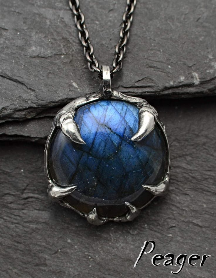 Labradorite Pendant,Amulet necklace,Fantasy multicolor pendant,round necklace,Metalwork handmade jewelry,Witch pendant,ooak jewel pendant by PeagerFantasyWorld on Etsy