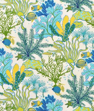 Swavelle / Mill Creek Outdoor Faylinn Teal Fabric - $8.9 | onlinefabricstore.net