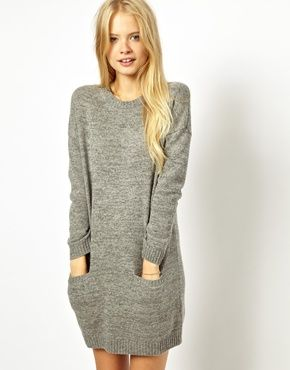 knitted sweater dress - fall fashion