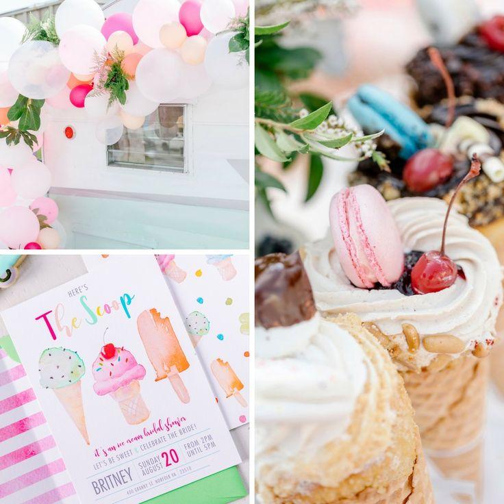 60u0027s Inspired Ice Cream Social Bridal Shower