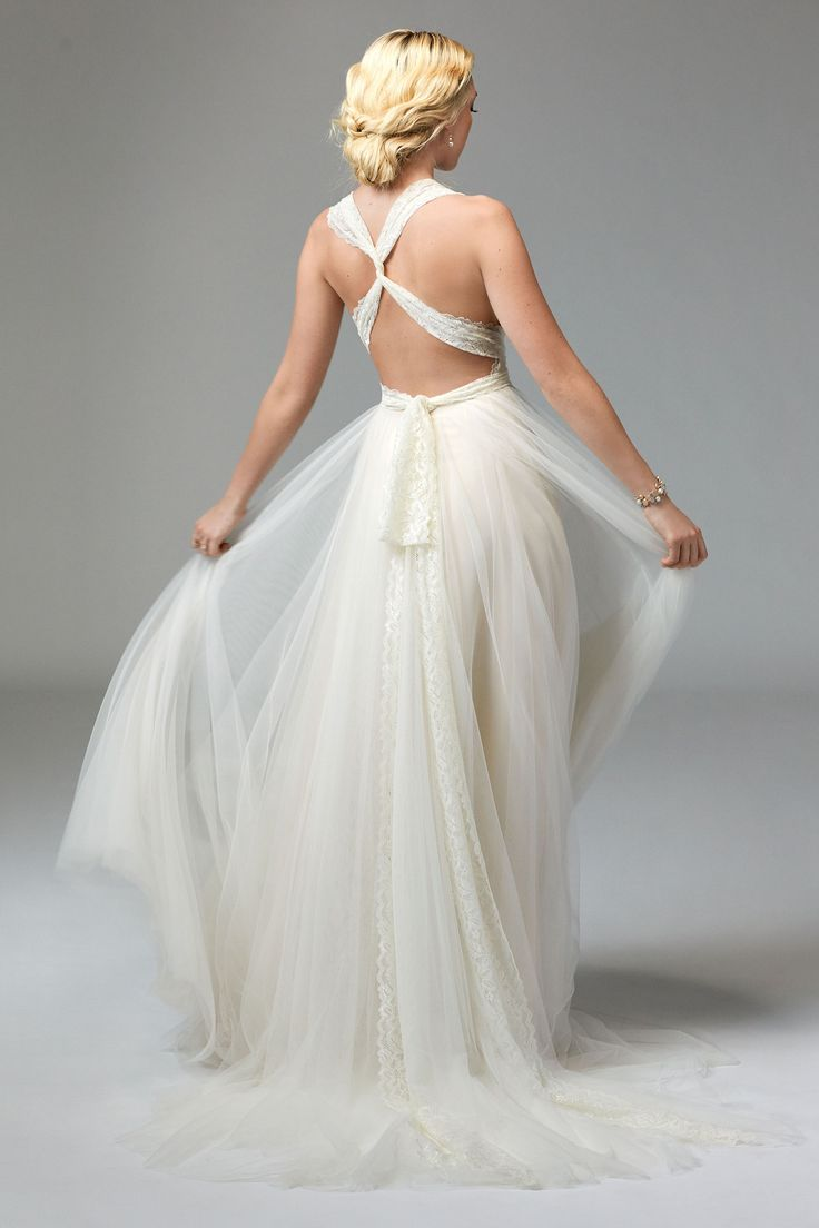 Infinity dresses the working bride -  Watterswtoo Willowby Style 57703 Tilda Wedding Gown With Infinity Straps