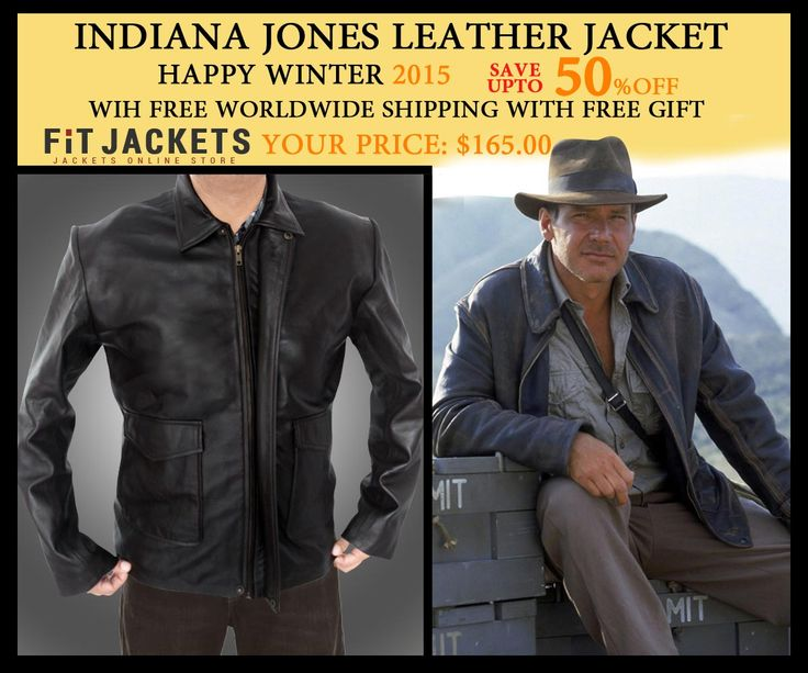 For the fans of Harrison Ford, Fit Jackets offers this wonderful Indiana Jones leather jacket for $165 with free shipping. Get this now and save upto 50% from Valentine sale. Best for winter, clubs and casual occasions. Hurry, order yours now!  #HolidayDeal #LeatherJacket #IndianaJones #HarrisonFord #costume #winterseason #MensFashion #WinterCostume #MensClothing #valentinesday #MensJacket #SuperHotfashion