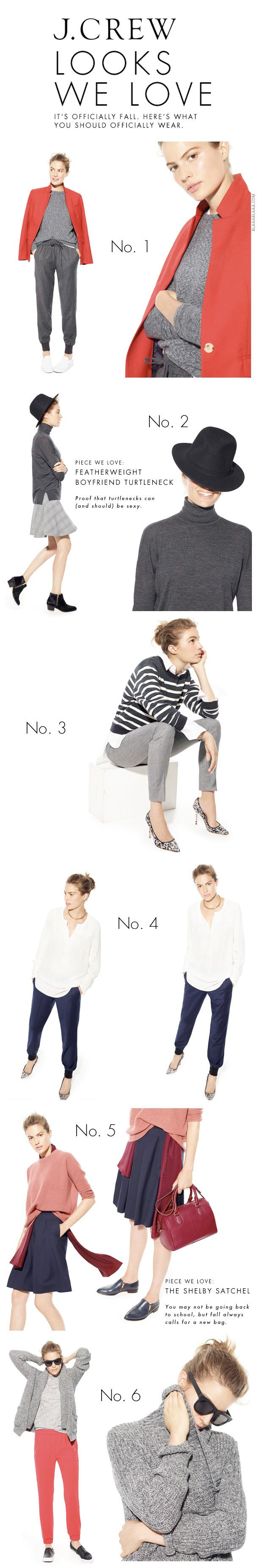 J.Crew Newsletter - Fall Trends Shop the Look