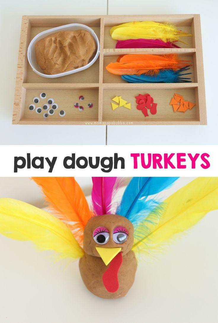 Play Dough Turkeys | Mama.Papa.Bubba.