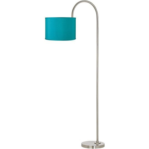 Universal Lighting and Decor Teal Blue Faux Silk Arc Tempo Floor Lamp (980 CNY) ❤ liked on Polyvore featuring home, lighting, floor lamps, green, artificial light, floor reading lamp, green floor lamp, arc lamp and arc floor lamp