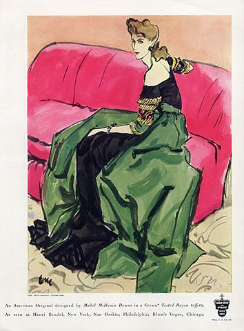 Mabel McIlvain Downs 1941 Evening Gown ERIC