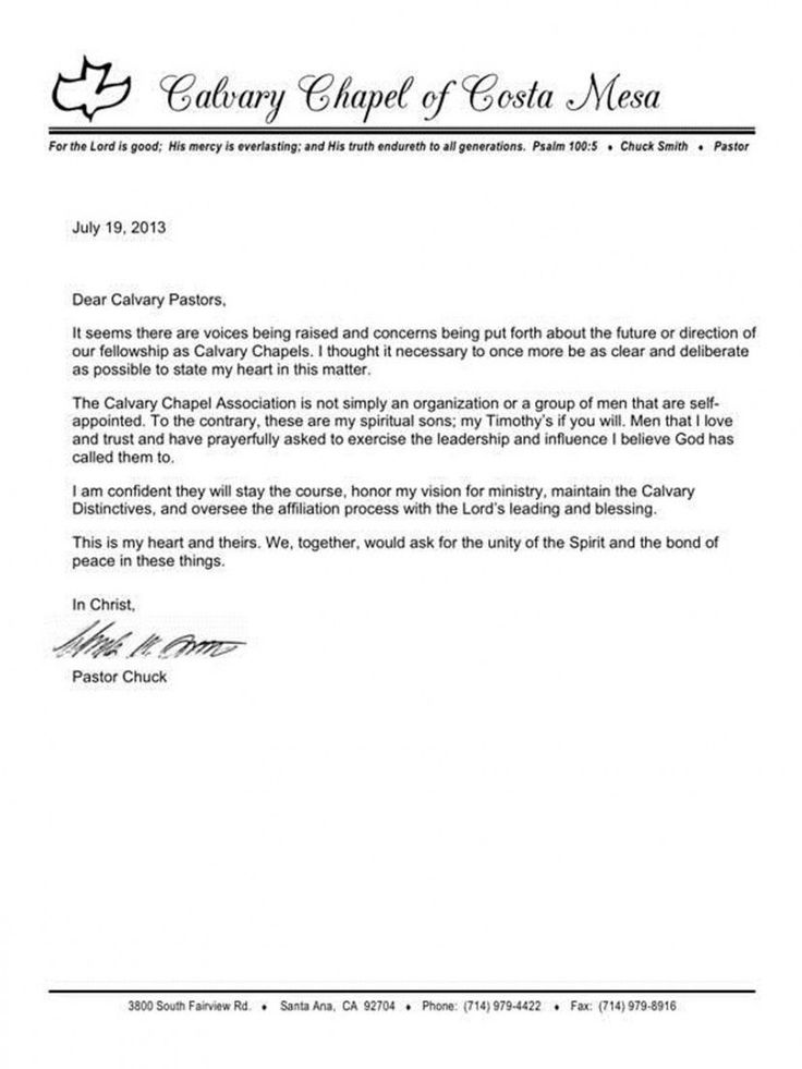 Explore Our Sample of Resignation Letter From Church