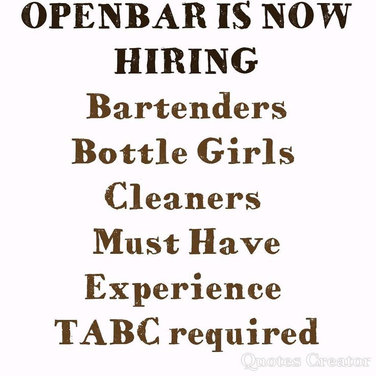 OPENBAR Is Now Hiring for Experience staff to bring the best quality service for 2018 and beyond. #nowhiring #houston #nightlifehouston #club #waitress #bartenders #cleaningservice