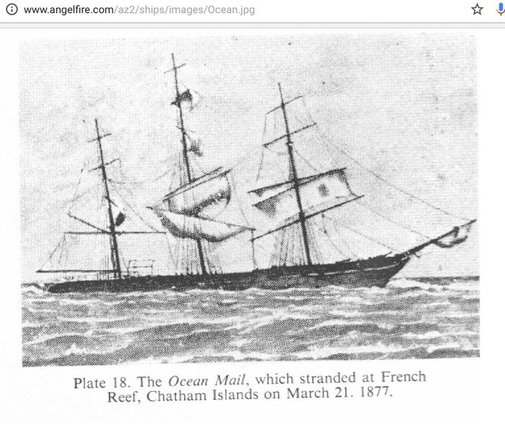 Corlett and Cowley families emigrated to NZ on Ocean Mail 1874