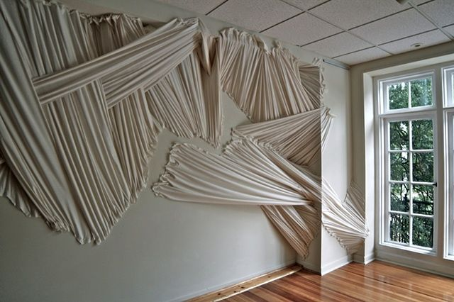 """Envelop"" fabric installation. Carlie Trosclair 2011"