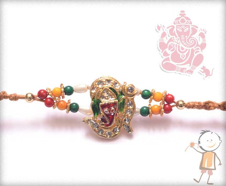 Mauli  #Rakhi Collection 2015 – Send  #Rakhi to #India, #USA, #UK, #Canada, #Australia, #Dubai #NZ #Singapore. Diamond Ganesh with Beads #Mauli  #Rakhi , surprise your loved ones with roli chawal, chocolates and a greeting card as it is also a part of our package and that too without any extra charges. http://www.bablarakhi.com/send-fancy-rakhi-online/872-send-diamond-ganesh-with-beads-mauli-rakhi-online.html