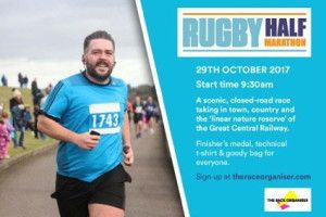 RUNNING: Sign up for Rugby Half Marathon, just a month away