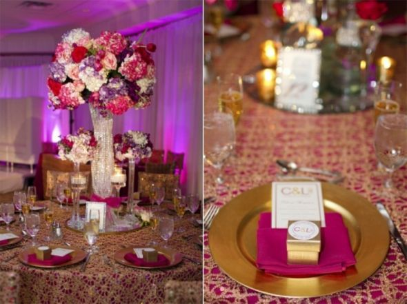 Fuschia Purple And Gold Wedding Fuchsia Hot Pink Magenta Pinterest Colors Decorations