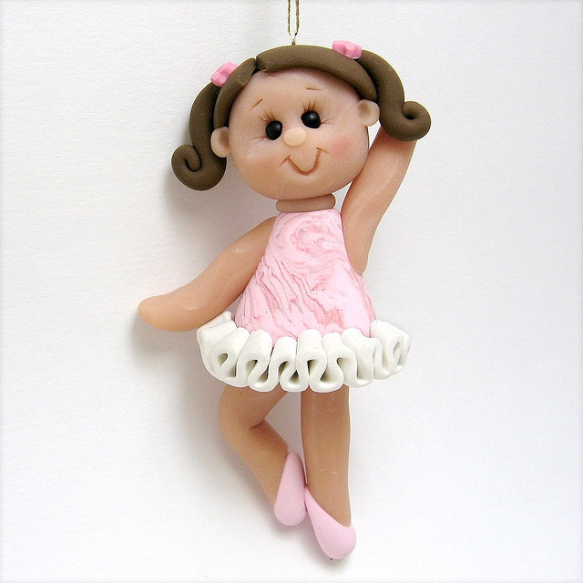 polymer clay ballerina this would be soo cute for a christmas ornament