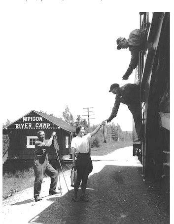 NIPIGON CAMP, Ontario - seasonal CPR railway stop