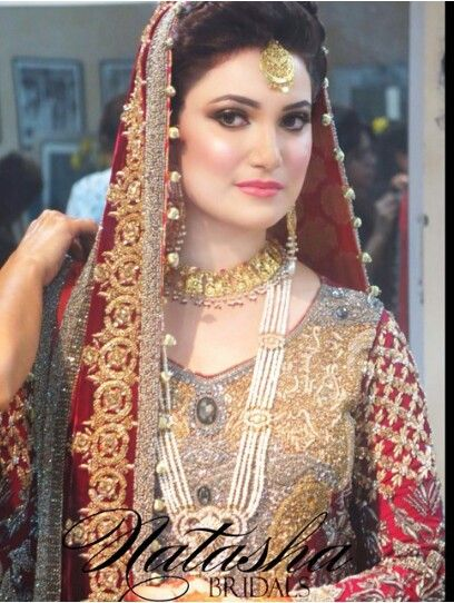 Elegant Pakistani bridal look - Natasha salon