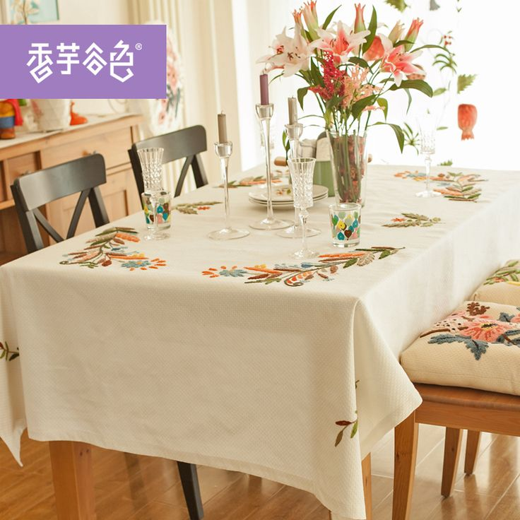 Cheap linen tablecloth, Buy Quality flower tablecloth directly from China linen cotton tablecloth Suppliers: Chinese Tranditional Embroidered Flowers Tablecloth High Quality Cotton Linen Tablecloth Home Use Tablecloth