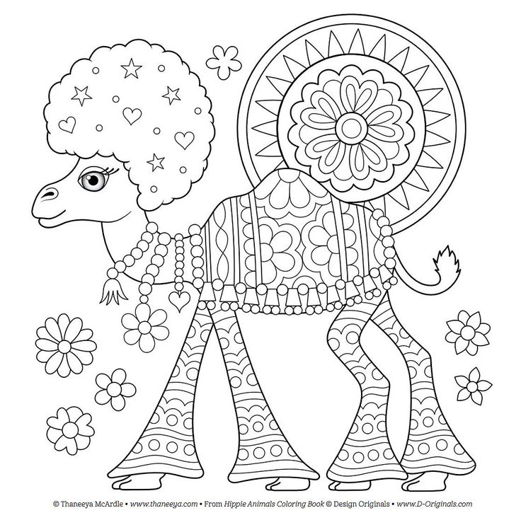 789 Best Animal Coloring Pages For Adults Images On Pinterest