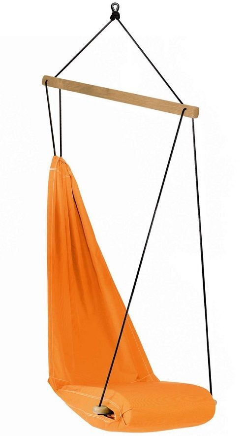 Hanging Chair Orange Swing Porch Outdoor Patio Rope Air Seat Lounger Garden
