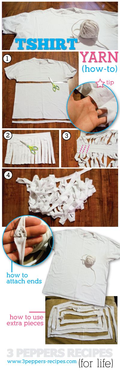 How to Make TShirt Yarn from old tshirts! #craft #oldtshirt #diy