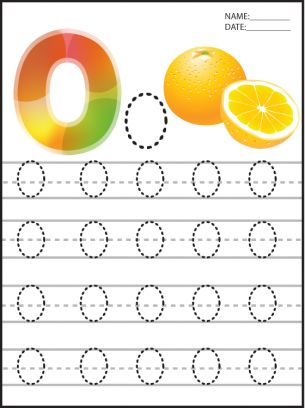 Letter O Printable Worksheets: Give a like for #education