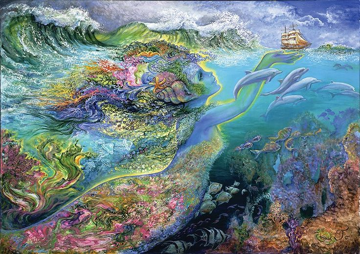 "- Josephine Wall jigsaw puzzle - Fantasy theme with 1500 pieces - Includes a box stand - Measures 19"" x 39"" - Made in Turkey Spirit of the Ocean is a reproduction of the well known artist Josephine Wa"