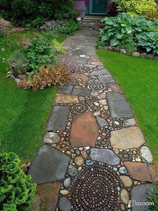 Beautiful mosaic walkway!